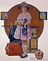 Vacation's Over by Norman Rockwell. Life Art Repro choose Canvas or Paper