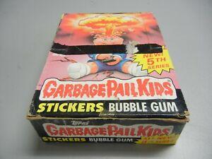 1986 Garbage Pail Kids USA GPK 5th Series partial box, 21 Wax Packs