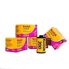 5 x Kodak Gold Film 200 135-36 Analogfilm Kleinbildfilm