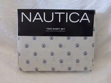 3 pc Nautica Anchor Circle Twin Sheet Set NIP