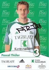 Pascal Thüler  FC St.Gallen  Fußball Autogrammkarte signiert 391719