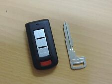New OEM Mitsubishi Lancer Factory Remote Smart Prox Key Keyless Uncut blade KM4