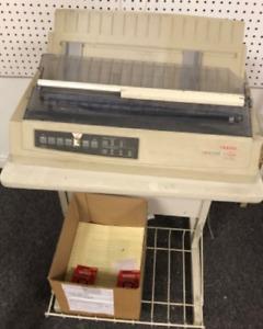 Okidata Microline 321 Turbo Computer Printer Works - w/ 2 Extra Ribbons!