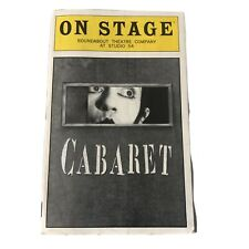 Playbill Cabaret 1998 Roundabout Theatre Studio 54 Alan Cumming Mary McCormack