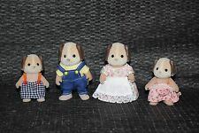Calico Critters Sylvanian Beagle Dog Family 1985 Epoch