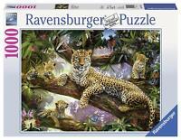 Ravensburger - 19148 - Puzzle Classique - Maman Léopard Et Ses Petits - 1000 Piè