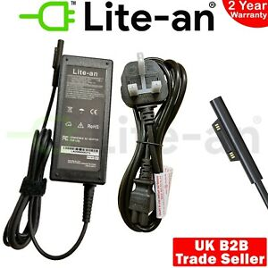 15V 4A 60W For Microsoft Surface Laptop 3, 2, 1 AC Adapter Charger Power Supply
