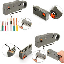 Rotary Cable Cutter Pliers Rg6/59 Wire Stripper Automatic Double Blades