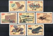 Kampuchea 1987 Early Aircraft/Planes/Aviation/Transport/da Vinci 7v set(b8032)
