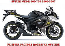 FX Factory DECORO GRAPHIC KIT SUZUKI GSX-R 600/750/1000/1300 Rockstar Outline B