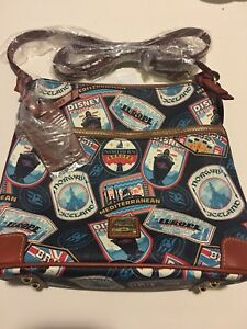 Disney dooney Cruise Line DCL Dooney and Bourke  Itinerary Crossbody Bag Purse