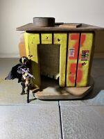 "Empire Toy Works Custom Wood 2pc Building Playset Diorama Star Wars 1:18 3.75"" 1"