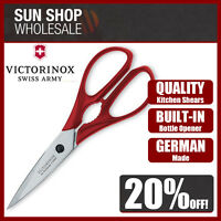 100% Genuine! VICTORINOX Multipurpose Kitchen Shears with Bottle Opener Red!
