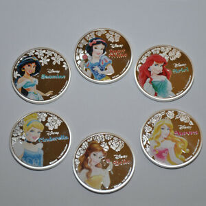 Disney Princesses Collectable Coin Bundle Set Silver Plated Gift coins fans