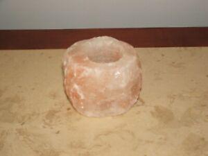 HIMALAYAN NATURAL SALT ROCK CRYSTAL TEALIGHT CANDLE HOLDER, PAPERWEIGHT, PEN HOL