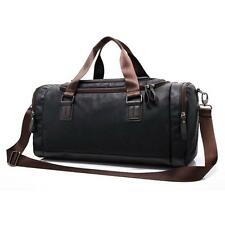 Travel Bag, iTECHOR Man s PU Leather Duffel Tote Shoulder Handbag Bag Gym...