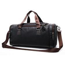 Travel Bag, iTECHOR Man s PU Leather Duffel Tote Shoulder Handbag Bag Gym...