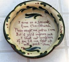 Antique Aller Vale Torquay Motto Ware Jam Dish c1900 Present from Christchurch