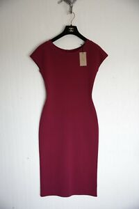 Alaia Venus Bodycon long dress size 40 M Red burgundy Paris Brand new with Tags