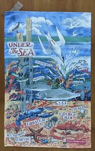 Under The Sea cotton tea towel by Emma Bridgewater with Tags