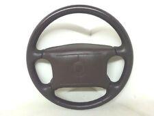 94 95 96 Cadillac Fleetwood Brougham Maroon Leather Steering Wheel W Air Bag OEM