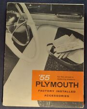 1955 Plymouth Accessories Brochure Folder Belvedere Plaza Savoy Nice Original 55