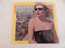 """Blondie """"Rapture"""" PICTURE SLEEVE! MINT! PERFECT! ONLY NEW COPY ON eBAY!!"""