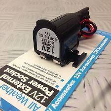 Motorbike, Boat & Car Waterproof 12V Cigarette Lighter Adapter Power Plug Socket