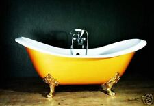 Roll Top Double Slipper Cast Iron Bath + Accessories  Windsor & Buckingham W TH