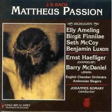 Bach st Matthew passion Highlights Johannes somary rar!