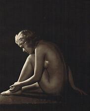 1930s Vintage John Everard Female Crouching Nude Art Deco Photo Gravure Print