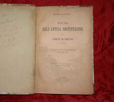 Libro Antico 1901 Studi sull'Antica Costituzione del Comune di Firenze P.Santini