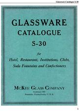 McKee Hotel & Restaurant Glassware Catalog, 1930s