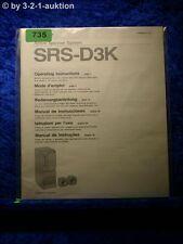 Sony Bedienungsanleitung SRS D3K Active Speaker System (#0735)