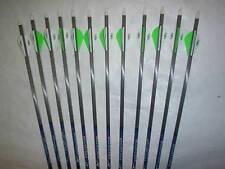 12 Carbon Express Predator Ii 4560 Carbon Arrows & Blazer Vanes! Will Cut!