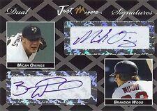 MICAH OWINGS - BRANDON WOOD 2006 Certified Dual Autograph RC 1/2