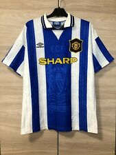 Manchester United 1994-1996 Vintage Third Football Shirt Soccer Jersey size L