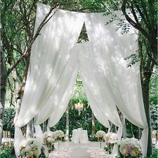 10M weißen Tisch Stuhl Girlanden Sheer Organza Stoff Hochzeit Party Dekoration