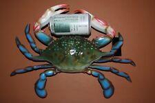 "(1) Huge Blue Crab Replica, 16"", Giant Blue Crab Decor, Large Blue Crab Decor"