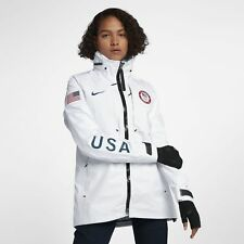 Nike NikeLab USA Winter Olympic Medal Stand GoreTex Jacket White 916685-100 XS