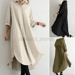 Women Oversized Flared Oversized Loose Tops Button Solid T-Shirt Shirt Blouse US