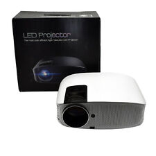"D08 LED Beamer 1080P Full HD 5000 L 200"" Heimkino HHDMI Projektor Multimedia"