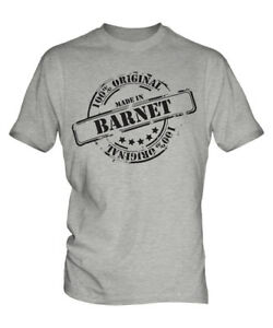 MADE IN BARNET MENS T-SHIRT GIFT CHRISTMAS BIRTHDAY 18TH 30TH 40TH 50TH 60TH