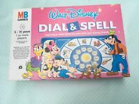 Walt Disney Vintage Dial And Spell Game 1990 MB Games Age 5-10 Boxed Complete