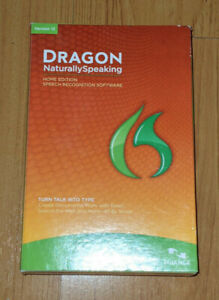 Dragon Naturally Speaking Home Edition Version 12 Speech Recognition In Box EUC
