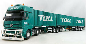 Road Ragers Cooee Australian Toll Mercedes Actros B double Container Set 1:50