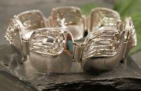 Abstraktes 925 Silber Armband Kollmar & Jourdan Pforzheim K J Breit Brutalist