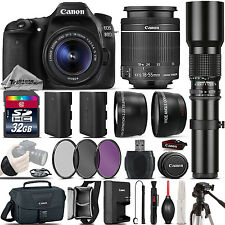 Canon EOS 80D DSLR Camera + 18-55mm IS STM + 500mm Telephoto - Best Value Kit