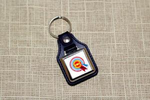BMC Rosette Leatherette Keyring - Mini Cooper, Maxi, etc Classic Keychain
