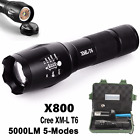 Zoomable 5000LM XML T6 LED Tactical Police Flashlight+Battery+Charger+Case Lot